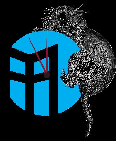 Gopher climbing SGT logo clock